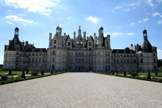 La vue du Château du côté jardin.