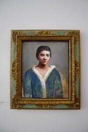 Portrait d'Olga au col de fourure