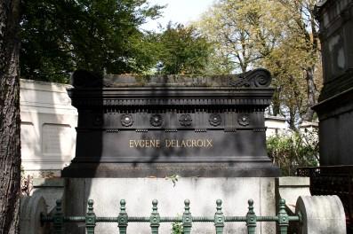 Tombe du peintre Eugène Delacroix