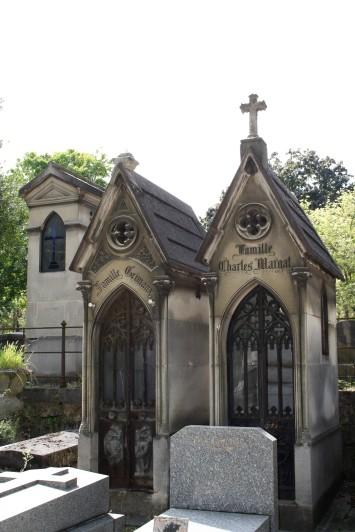 Le style gothique du cimetière du Père Lachaise