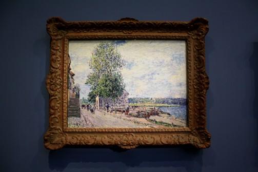 Alfred Sisley - Saint Mammes et les cotteaux de Veneux-Nadon, matin de septembre