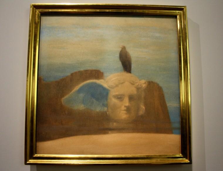 Hypnos marque l'art de Khnopff