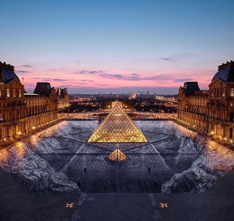 Le nouveau collage du JR au Louvre