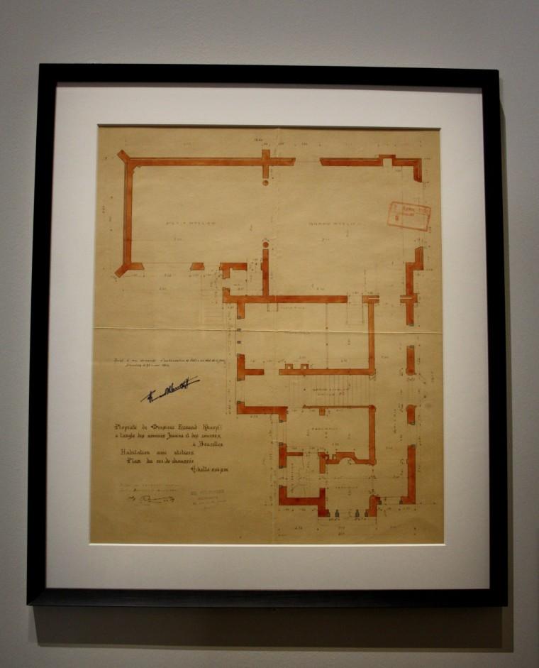 Plan de maison de Fernand Khnopff
