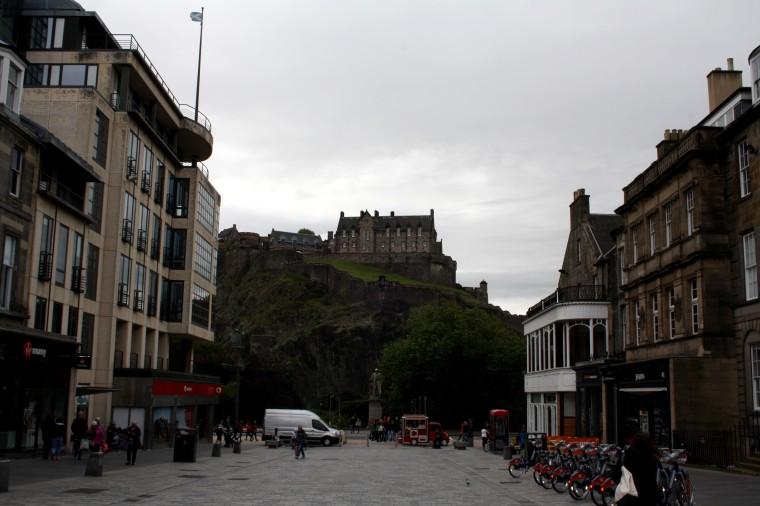 Vue sur le chateau d'Edimbourg