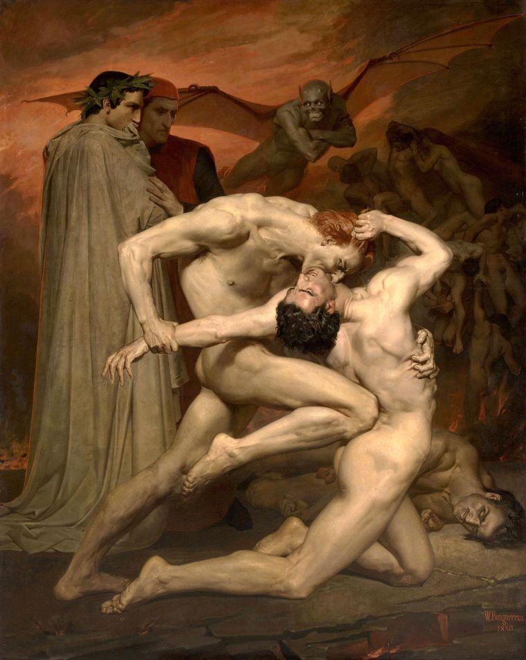 Dante et Virgile, Bouguereau, 1850