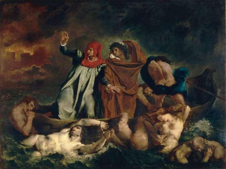 La Barque de Dante, Delacroix, 1822