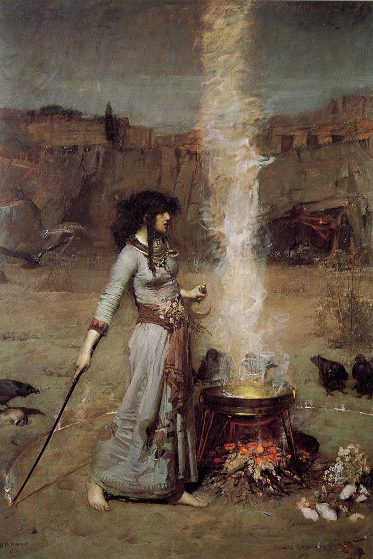 Le Cercle Magique, Waterhouse, 1886