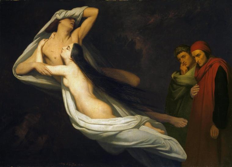 Les ombres de Francesca da Rimini et Paolo Malatesta, Ary Scheffer, 1855