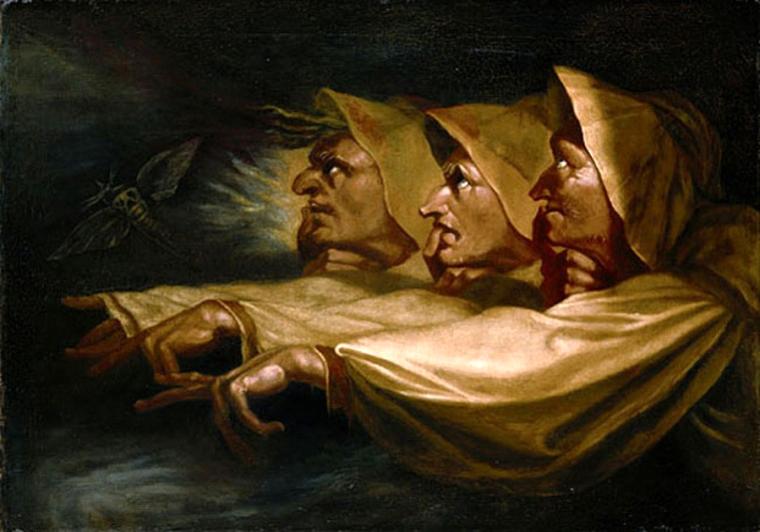 Les trois sorcières, Fussli, 1783