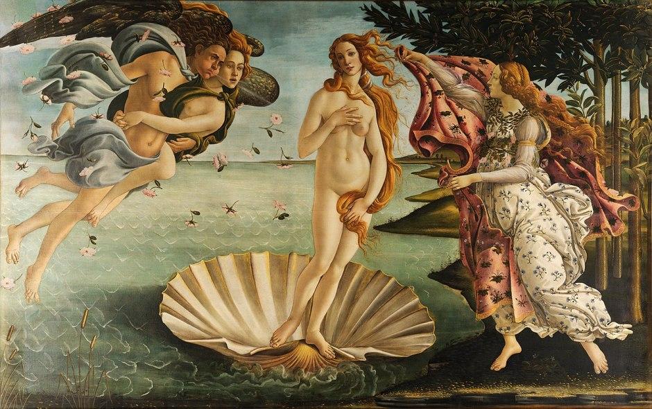 La Naissance de Vénus, Botticelli, 1485