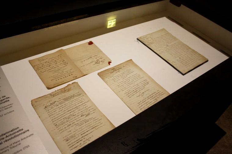 Papier de condamnation de Marie-Antoinette