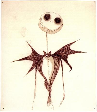 Dessin de Tim Burton, L'étrange noel de monsieur Jack