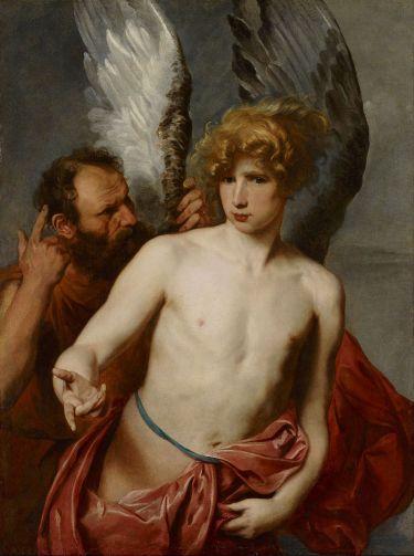 Dédale et Icare, Van Dyck, 1620