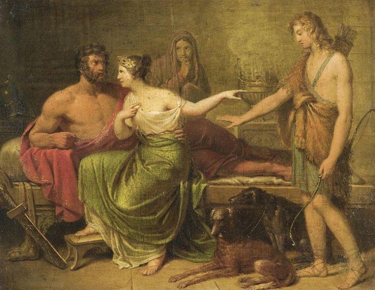 Hippolyte, Phèdre et Thésée; XVIII