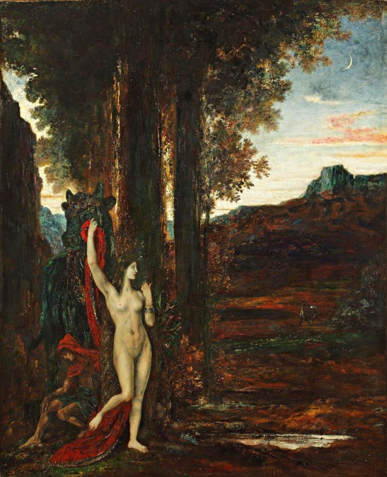 Pasiphaé et le taureau, Moreau, XIX