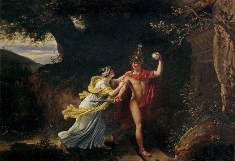Thésée et Ariane, Regnault, XVIII