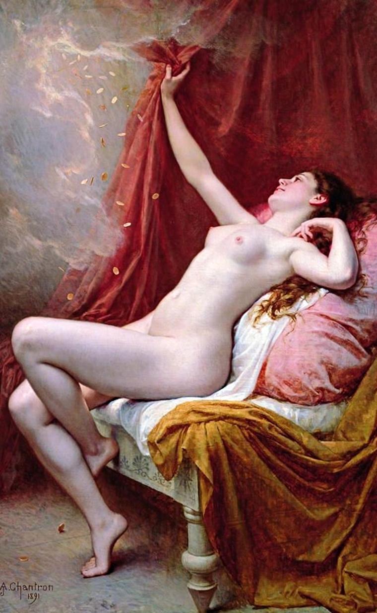 Danaé, Alexandre-Jacques Chantron, 1891