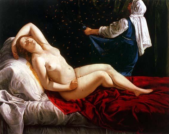 Danaé, Gentileschi, 1612