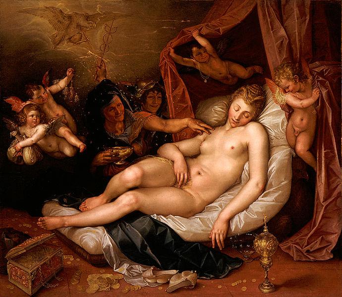 Danaé, Goltzius, 1603