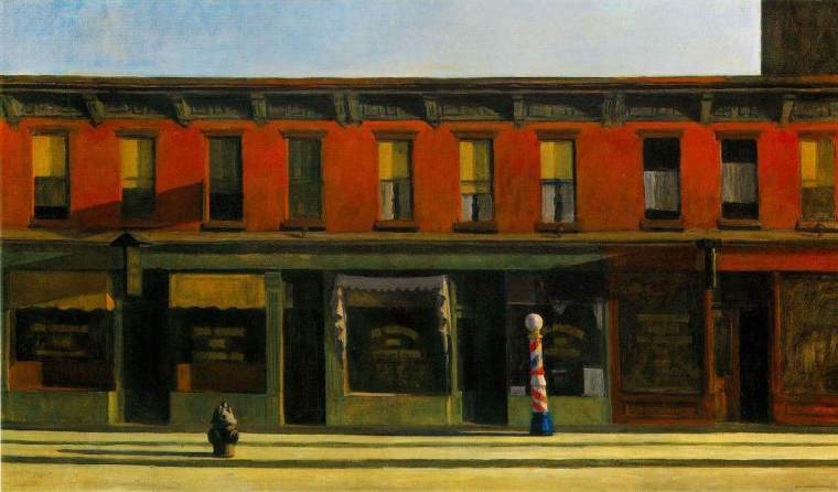 Early sunday morning, Hopper, 1930