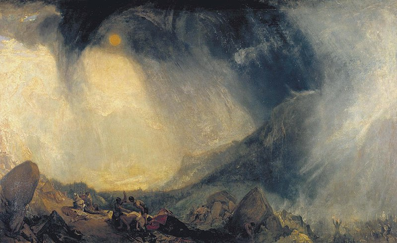 Hannibal traversant les Alpes, William Turner 1810-1812