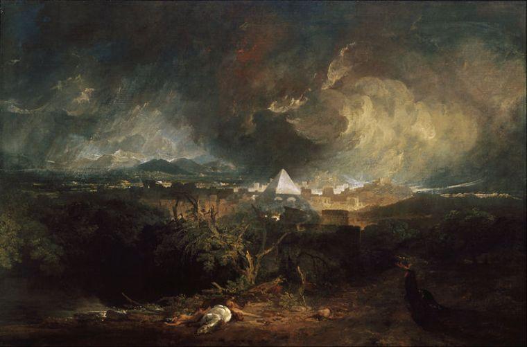 La cinquième plaie d'Egypte, William Turner, 1800
