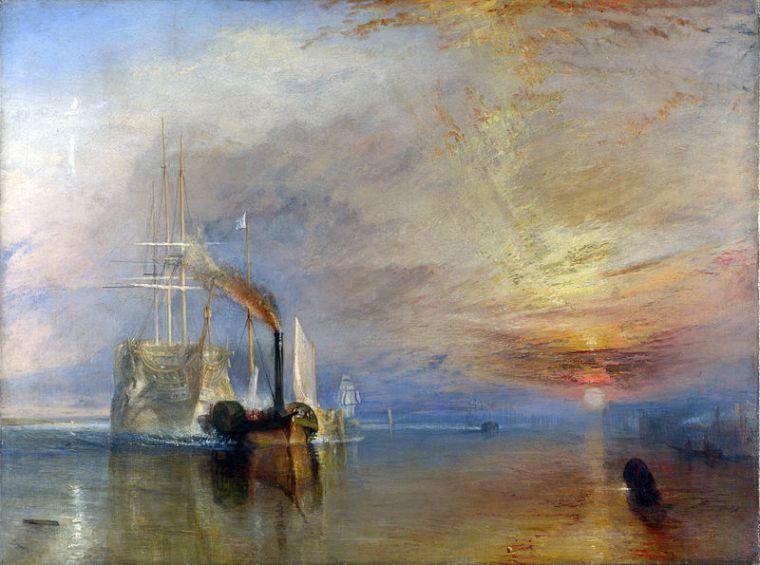 Le dernier voyage du Téméraire, William Turner, 1839