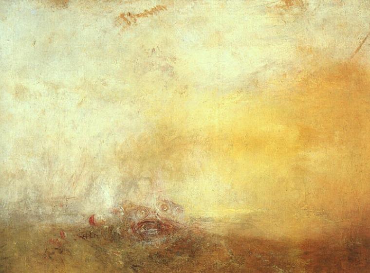 Levé de soleil avec monstres marins, William Turner, 1845