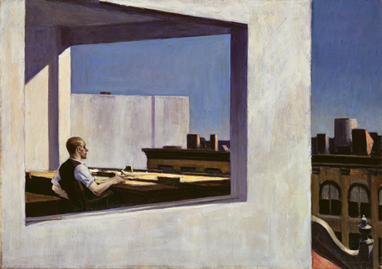 Office in a small city, Hopper, 1953