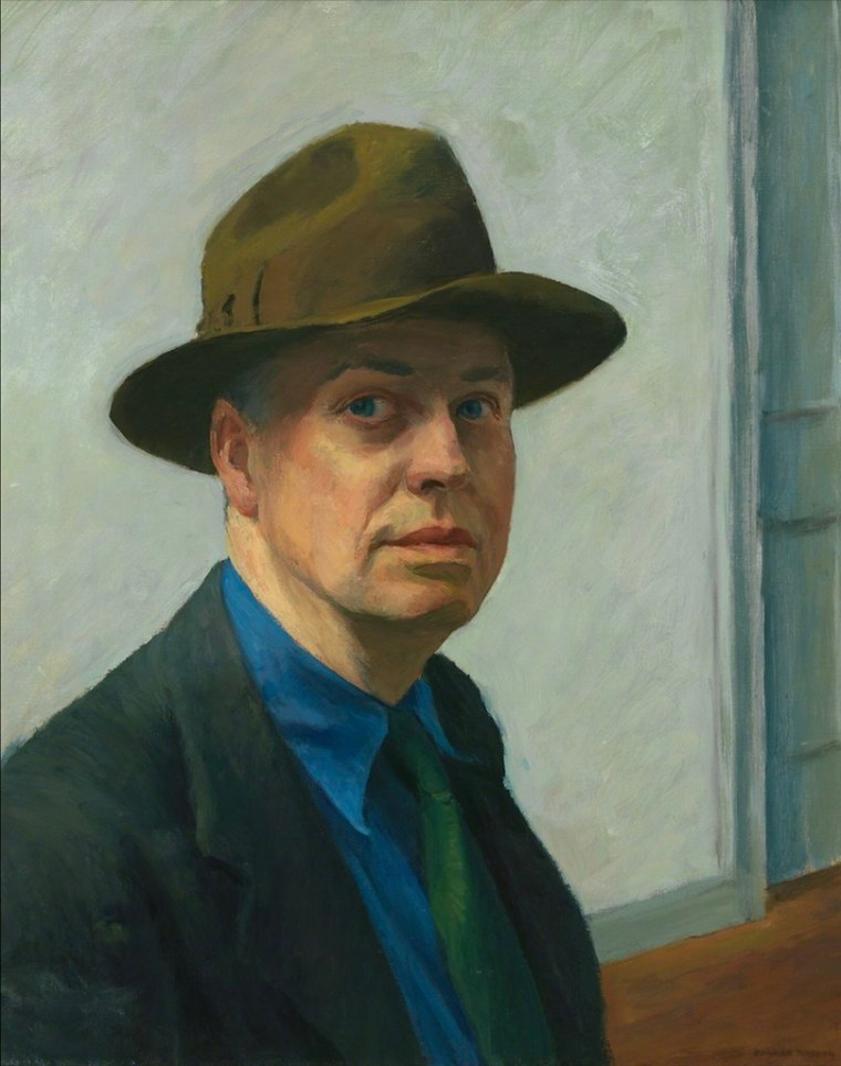 Self-Portrait, Hopper, 1925-1930