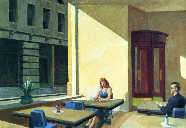 Sunlight in a Cafeteria, Hopper, 1958