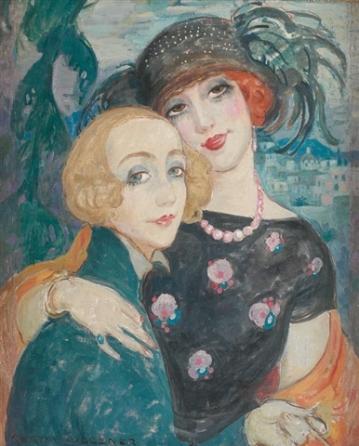 Lili Elbe et Gerda Wegener par Gerda Wegener