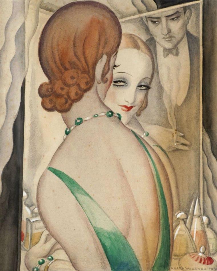Le miroir, Gerda Wegener, 1931