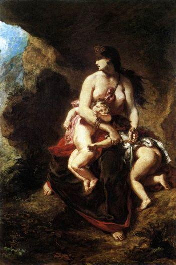 Médée furieuse, Delacroix, 1862