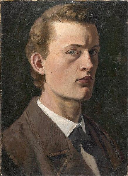 Autoportrait, Munch, 1882