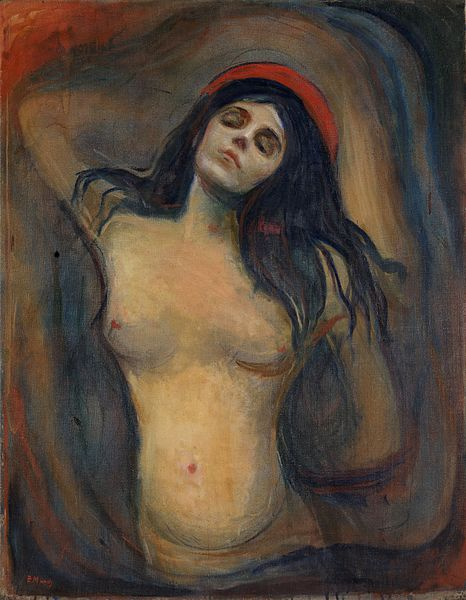 La Madone, Munch, 1894