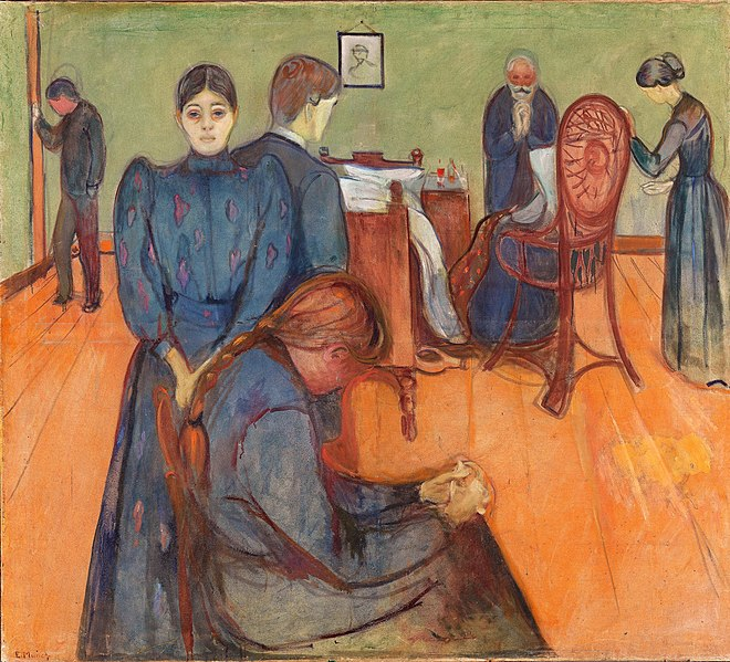 La mort dans la chambre de la malade, Much, 1893