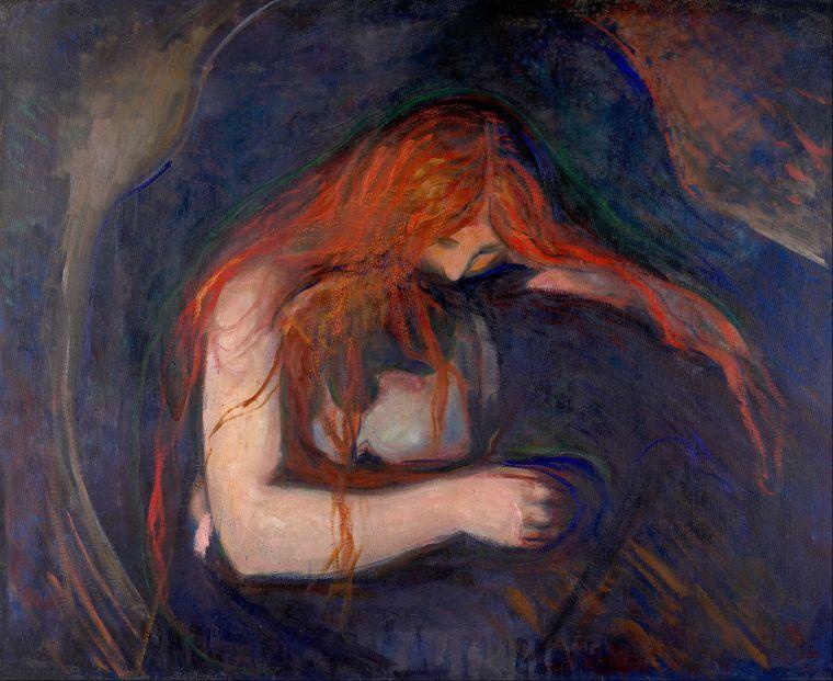 Vampire, Munch, 1893