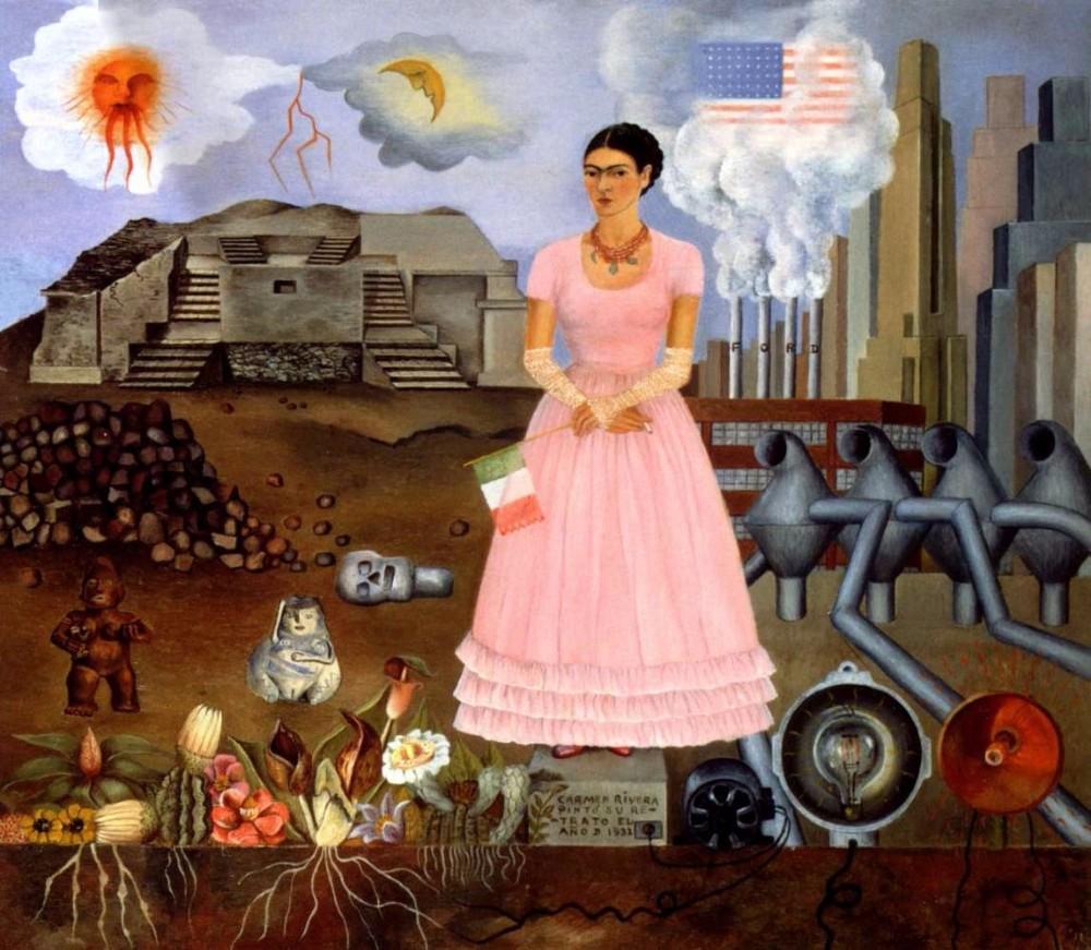 Autoportrait à la frontière entre le Mexique et les États-Unis, Frida Kahlo, 1933