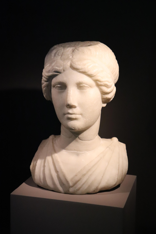 Buste de femme romaine, Exposition Pompéi