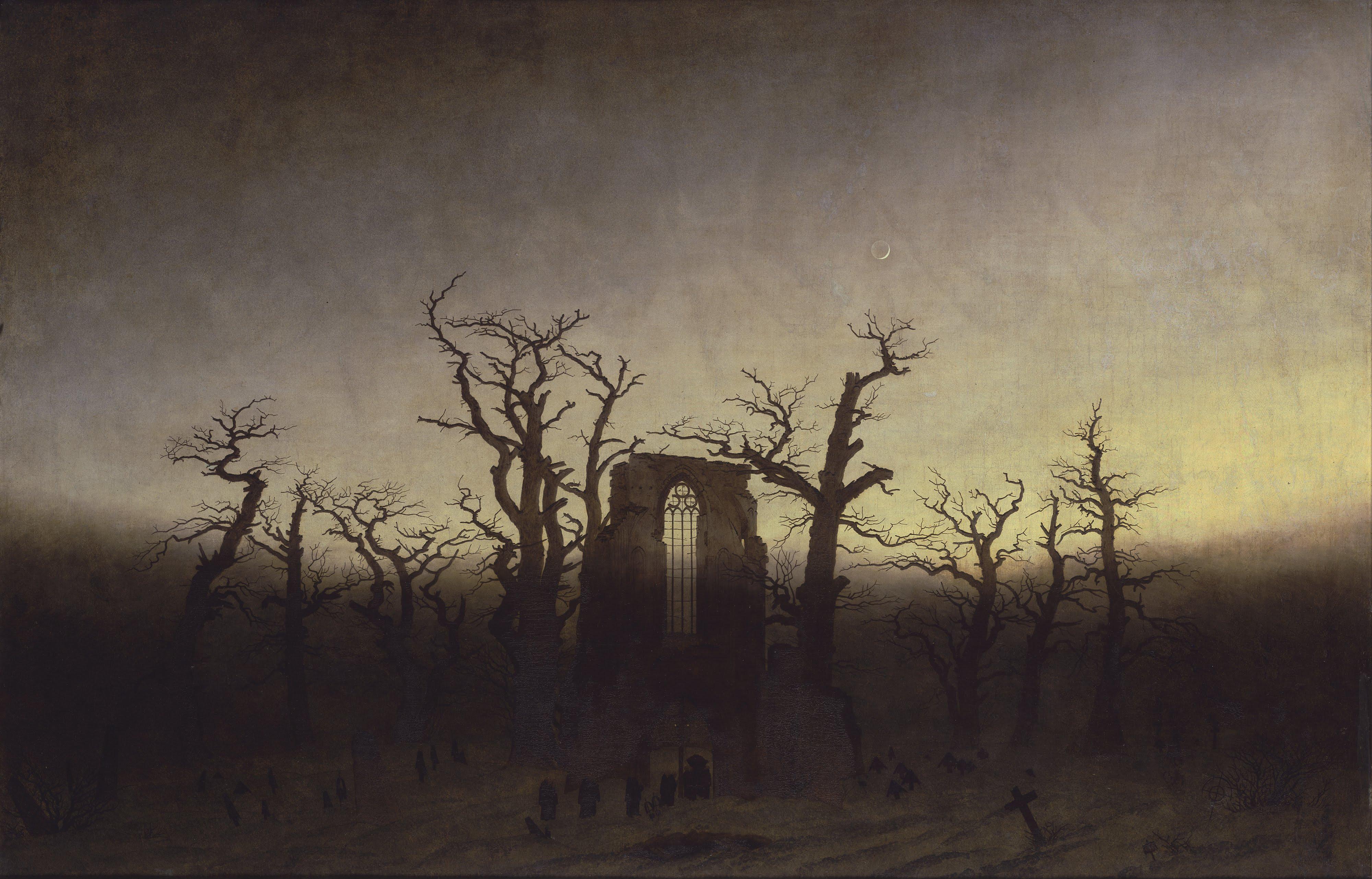 L'abbaye dans une forêt de chênes, Caspar Friedrich, 1810
