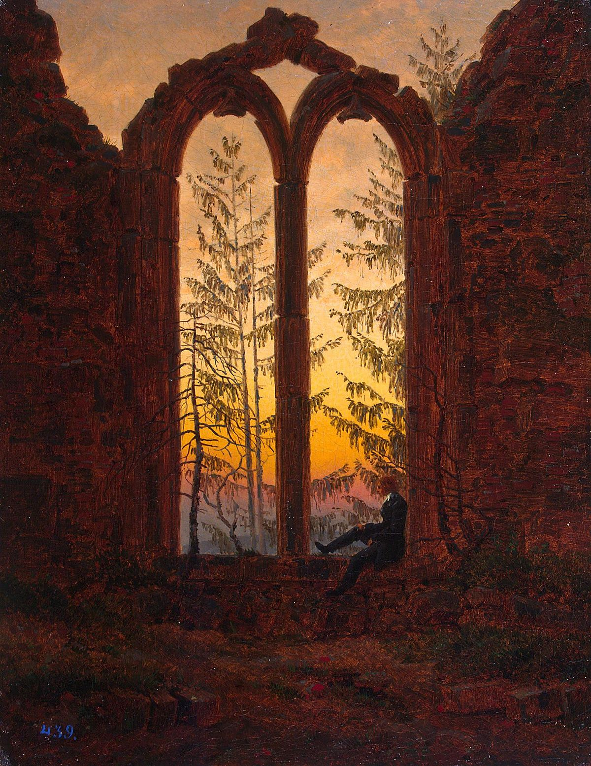 Le rêveur, Caspar David Friedrich, 1840