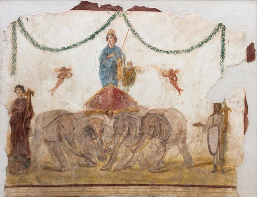 Vénus sur son char tiré par des éléphants, Grand palais, pompéi
