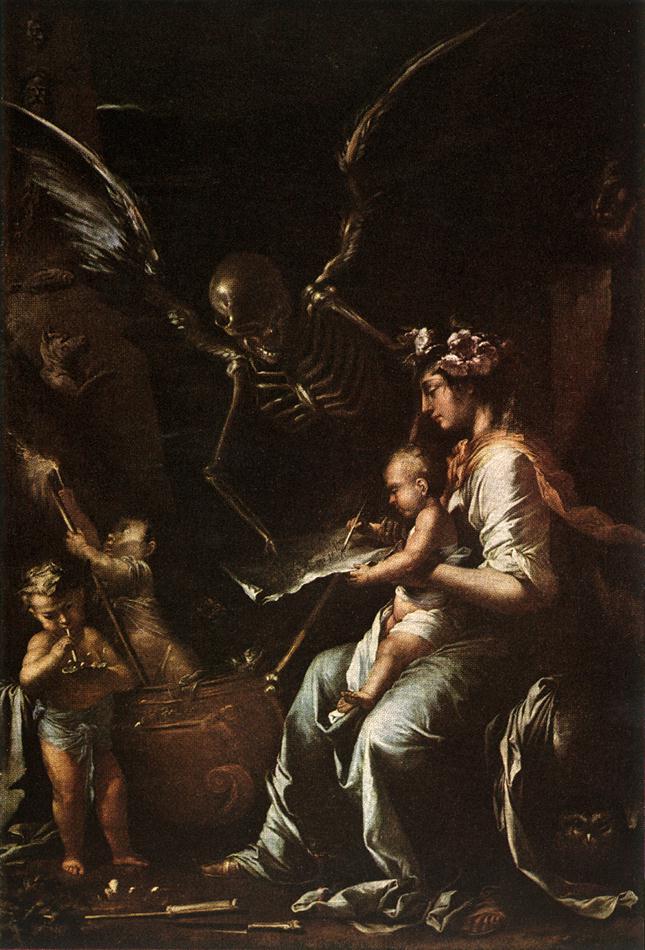 Fragilité Humaine, Salvator Rosa, 1656
