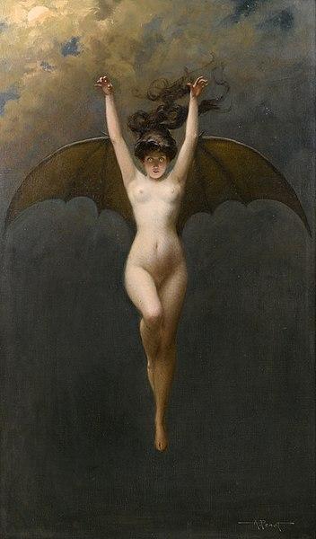 La Femme Chauve-Souris, Pénot, 1890