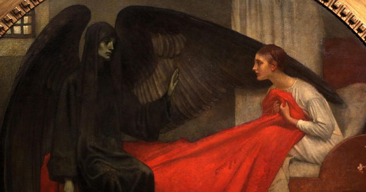 La jeune fille et la mort, Marianne Stokes, 1908
