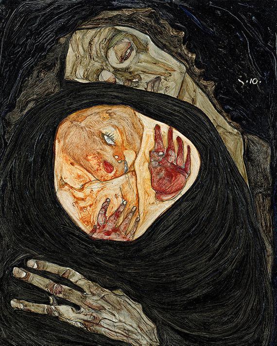 La mère morte, Egon Schiele, 1910