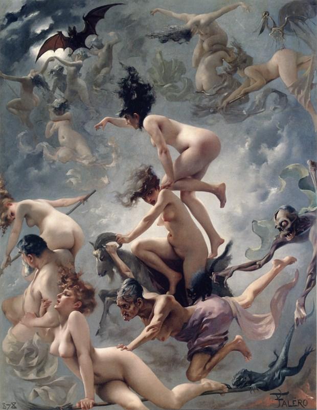 Les soricères au Sabbat, Falero, 1878