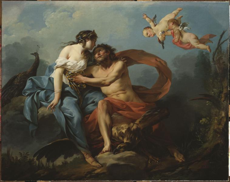 Junon trompant Jupiter avec la ceinture de Venus, Jean-Baptiste-Marie Pierre XVIII